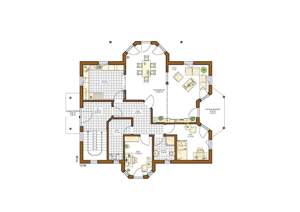 Kundenhaus Turin - Eine Nahaufnahme von einer Karte - Gebäudeplan