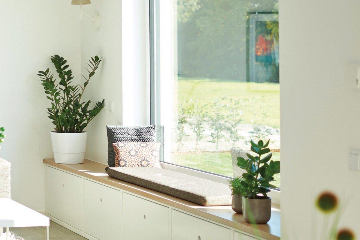 Cubus 162 - Ein Raum voller Möbel und Blumenvasen auf einem Tisch - Haus