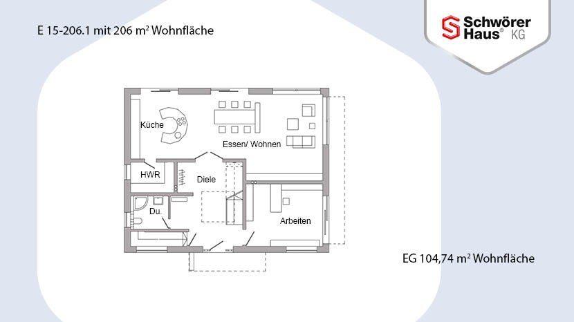 Plan E15-206.1 - Eine Nahaufnahme von einer Karte - Gebäudeplan