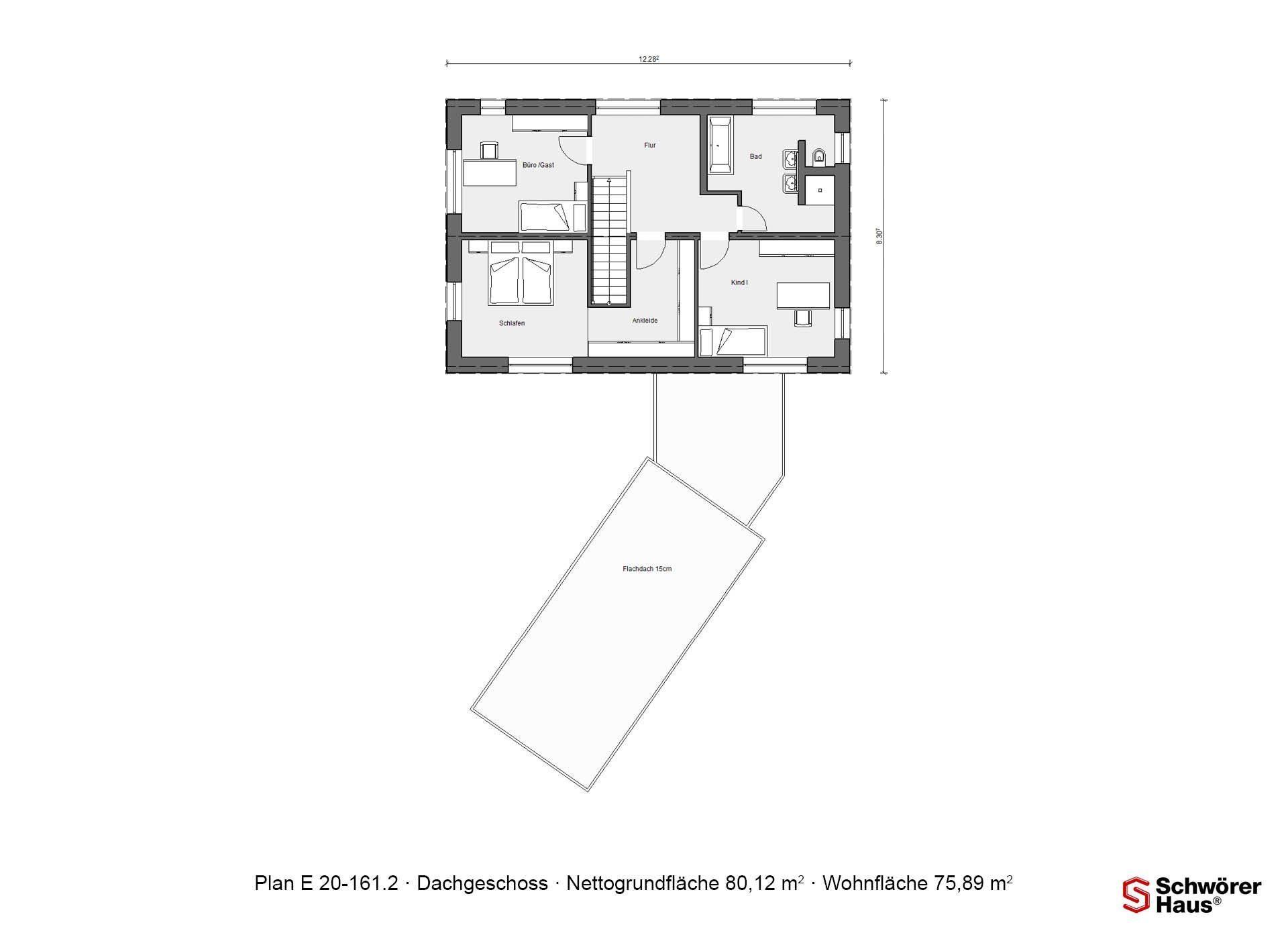 Musterhaus Köln - Ein Screenshot eines Handys - Gebäudeplan