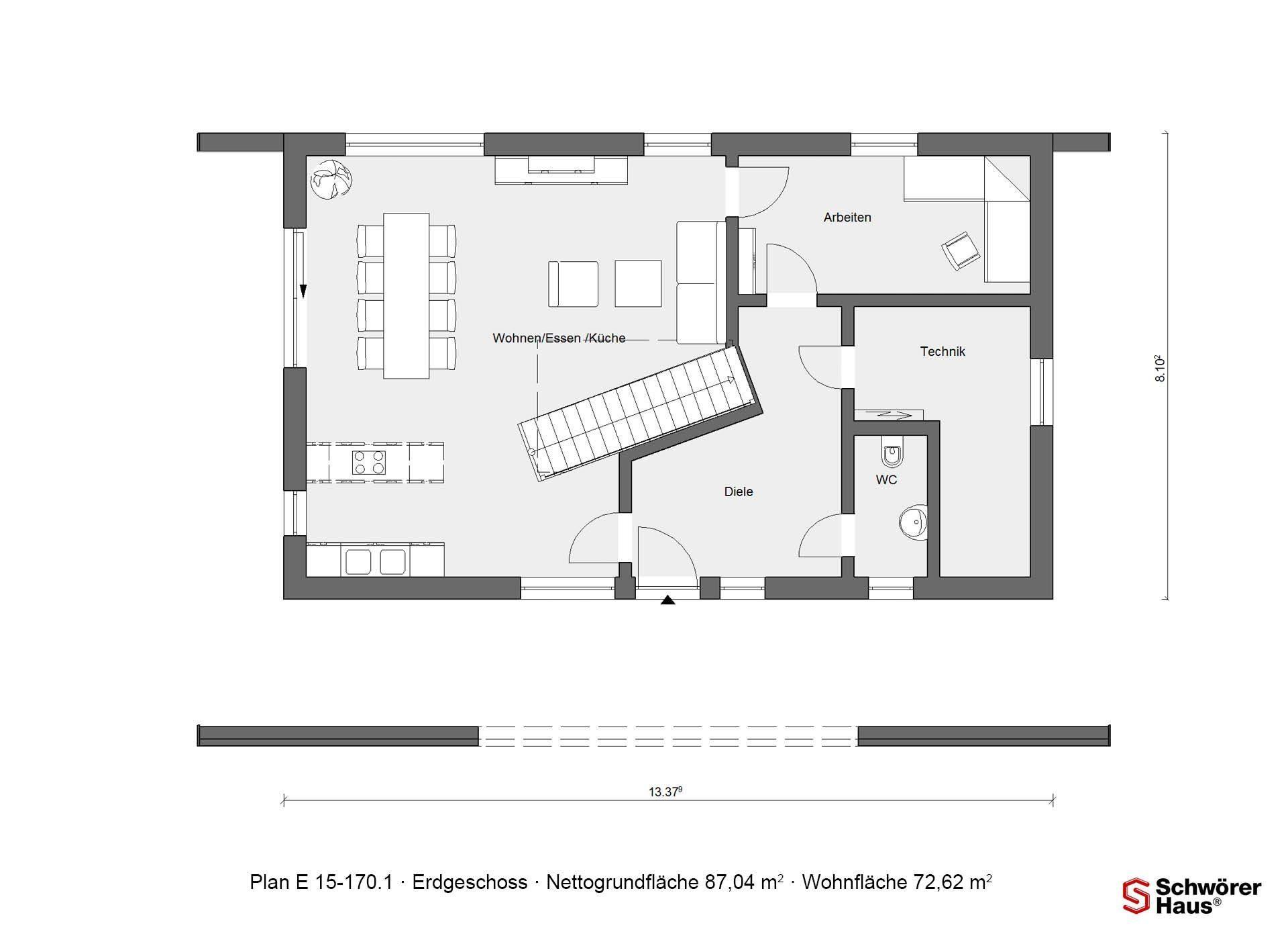 Plan E 15-140.1 - Ein Screenshot eines Videospiels - Gebäudeplan