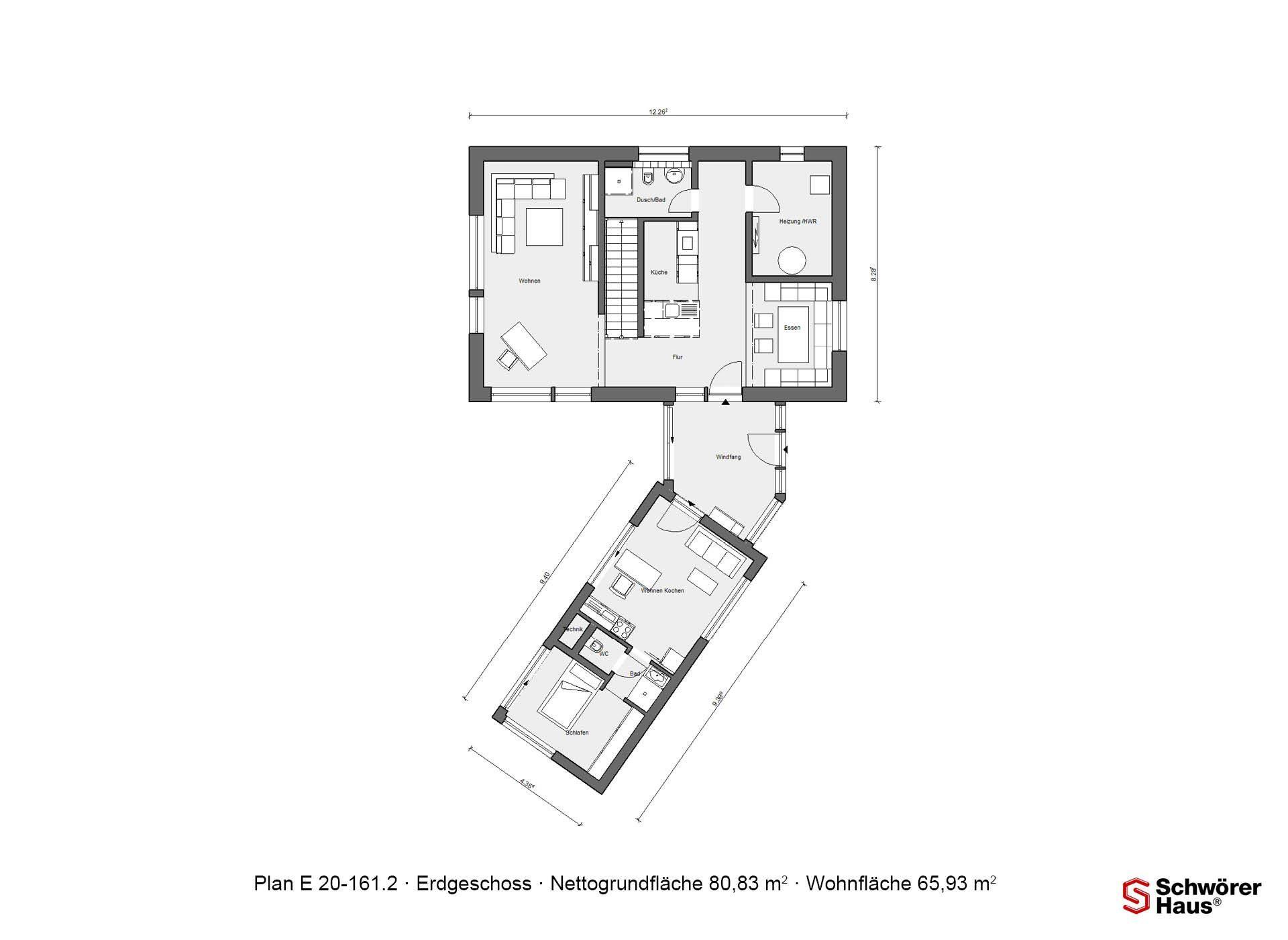 Musterhaus Köln - Eine nahaufnahme von text auf einem weißen hintergrund - Gebäudeplan