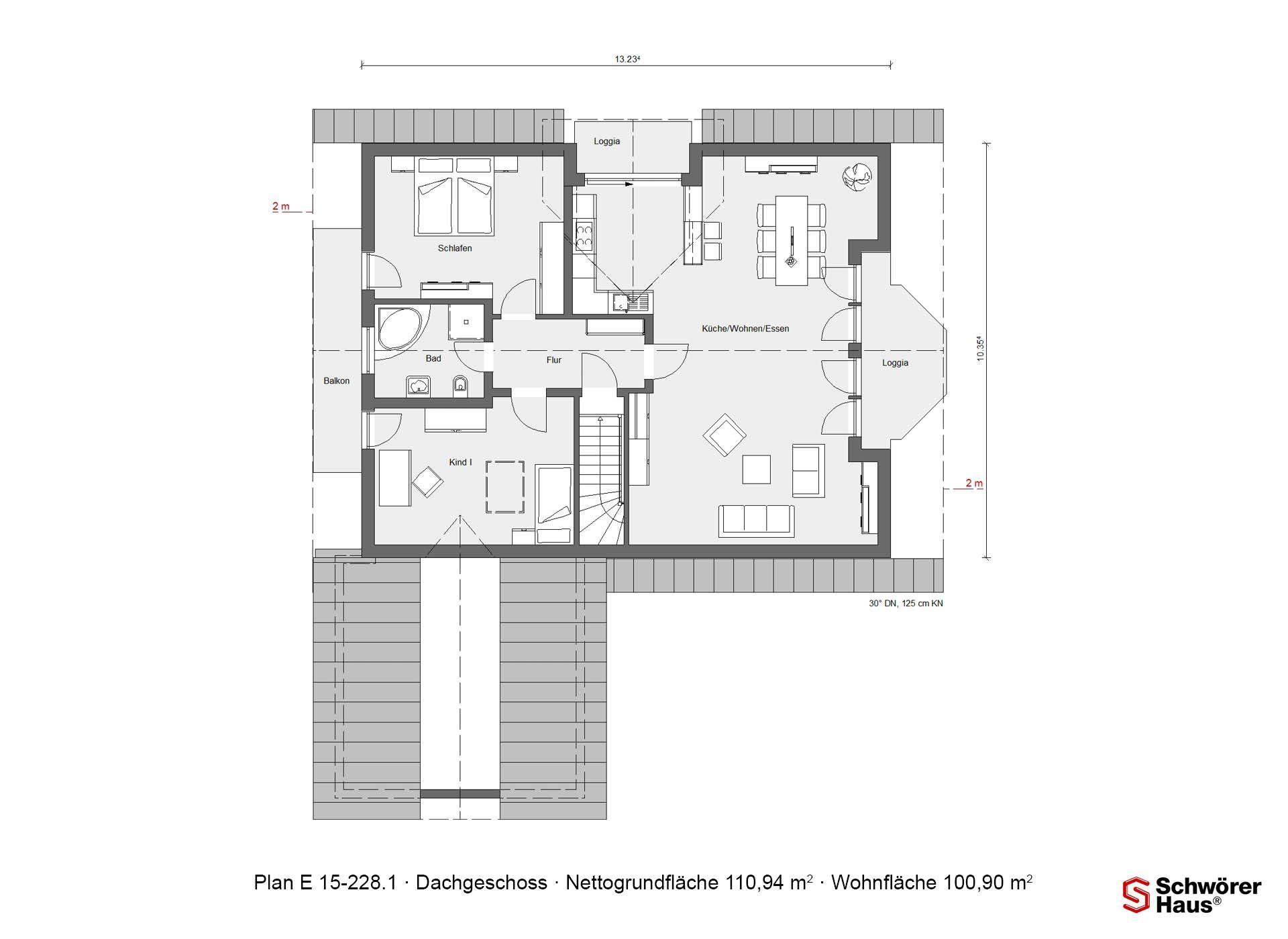 Wärme-Gewinnhaus Plan 229.3 - Eine nahaufnahme von text auf einem weißen hintergrund - Gebäudeplan