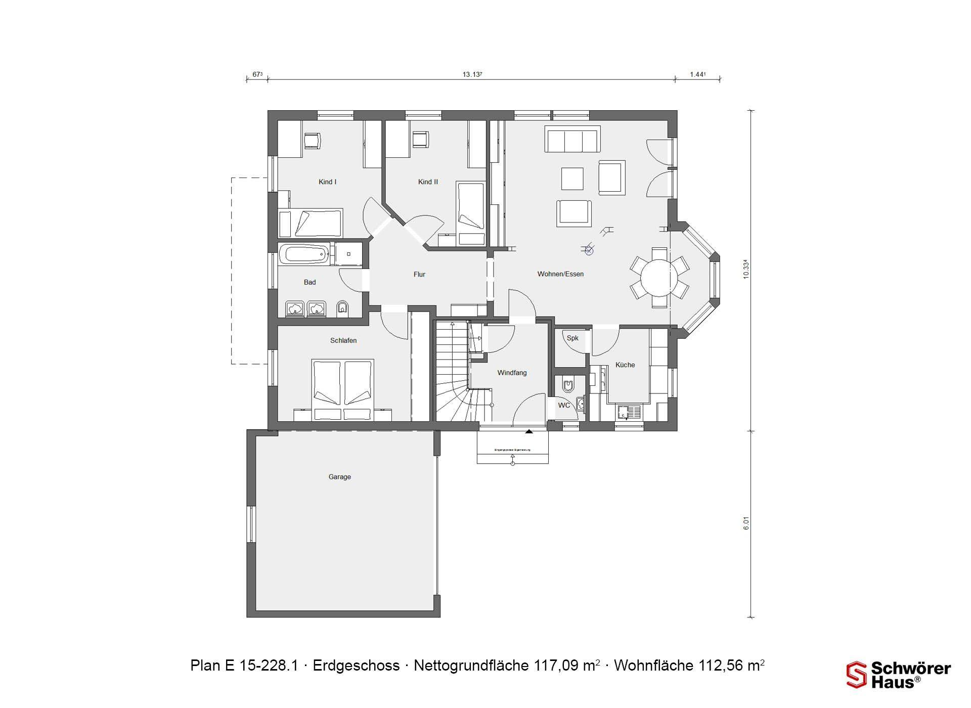 Wärme-Gewinnhaus Plan 229.3 - Eine Nahaufnahme von einem Logo - SchworerHaus KG