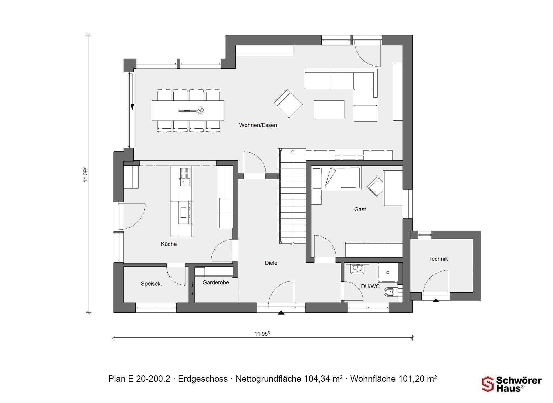 Plan E 15-214.1 - Ein Screenshot eines Videospiels - Gebäudeplan