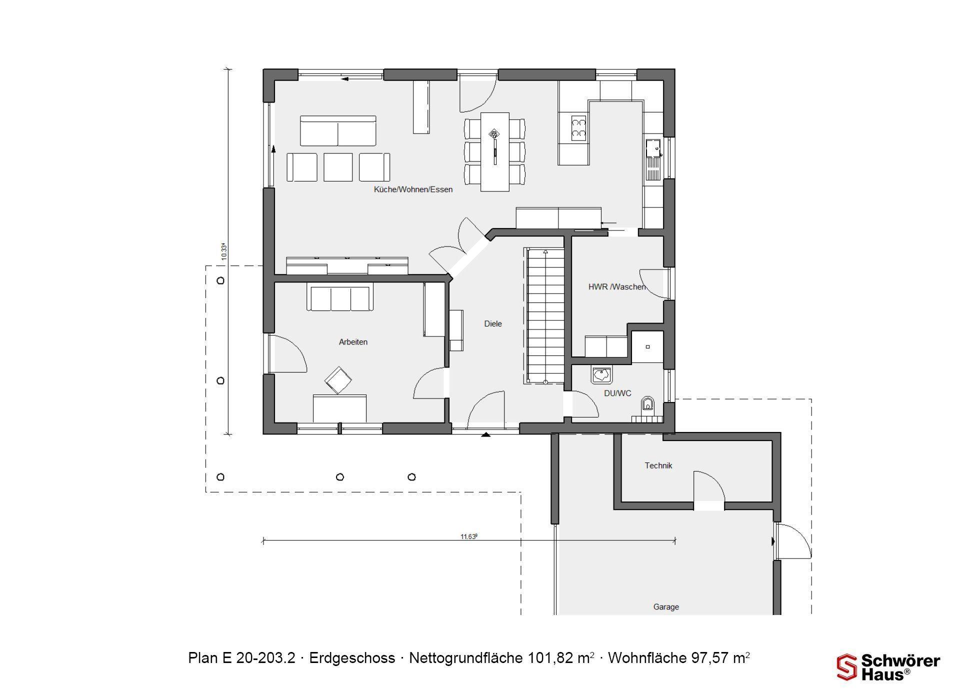 Kundenhaus Mayer-Elicker - Eine Nahaufnahme von einem Logo - Gebäudeplan