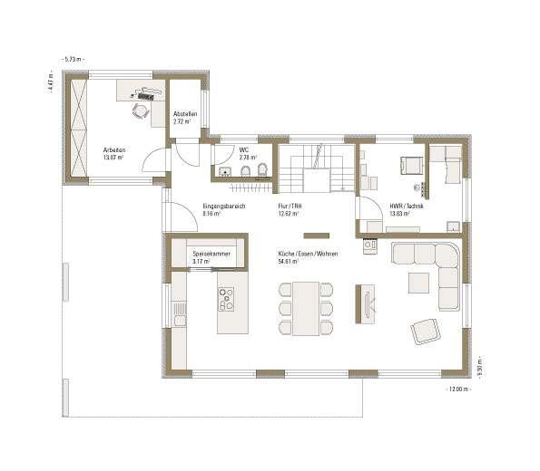 Musterhaus Günzburg - Eine Nahaufnahme eines Geräts - Gebäudeplan
