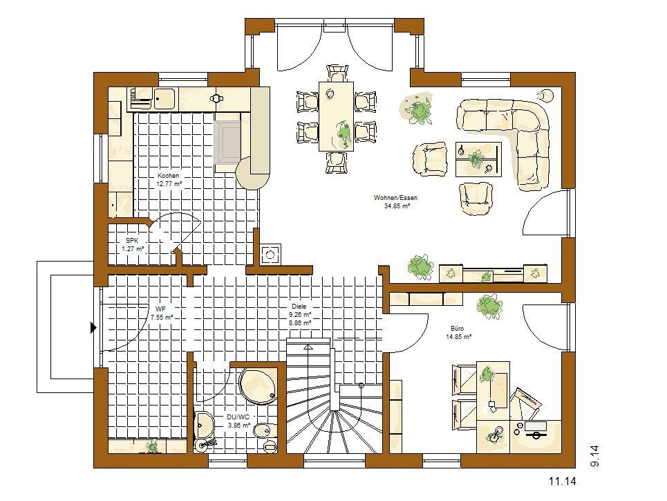 Musterhaus Barcelona - Eine Nahaufnahme von einer Karte - Gebäudeplan