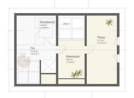 Musterhaus Fellbach - Eine nahaufnahme von text auf einer weißen fläche - Gebäudeplan