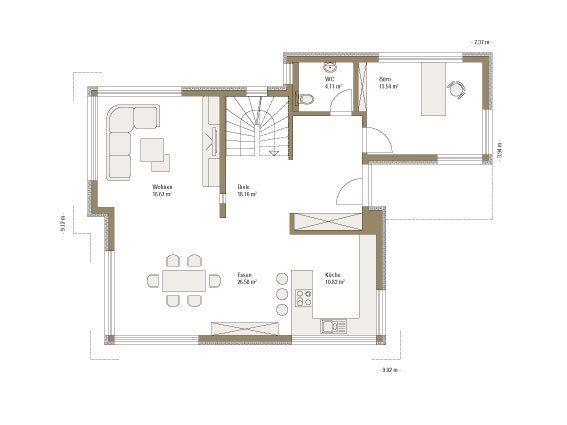 Plus-Energie-Haus Emotion - Ein Screenshot eines Handys - Gebäudeplan