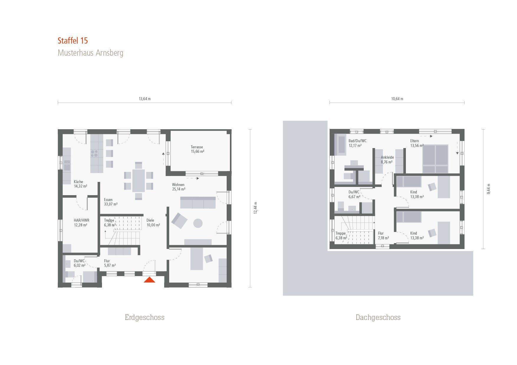 Musterhaus Arnsberg - Ein Screenshot eines Handys - Gebäudeplan