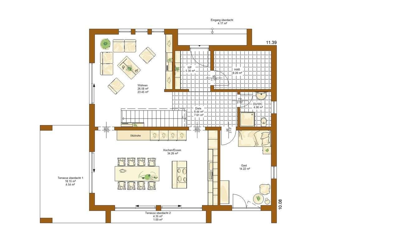 Musterhaus Victoria - Eine Nahaufnahme von einer Karte - Haus