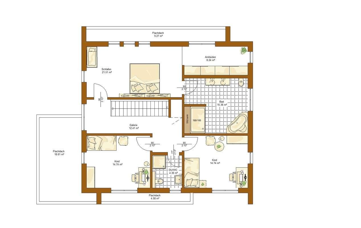Musterhaus Victoria - Eine Nahaufnahme von einer Karte - Gebäudeplan
