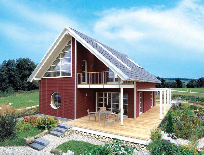 Skandinavische Variante - Ein Haus mit einem roten Backsteingebäude - Haus