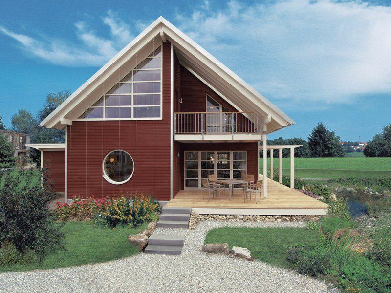 Skandinavische Variante - Eine große Wiese vor einem Haus - Bau-Fritz GmbH & Co. KG, seit 1896