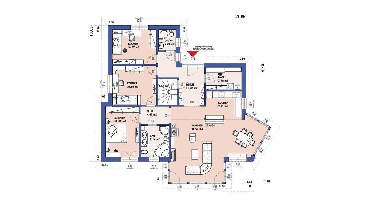 Evolution Königstein - Eine Nahaufnahme von einer Karte - Gebäudeplan