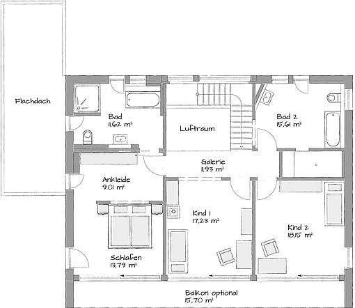 Musterhaus Aalen-Waldhausen - Eine Nahaufnahme von einer Karte - Gebäudeplan