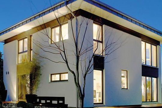 Musterhaus in Chemnitz - Ein Blick auf ein Haus - Haus