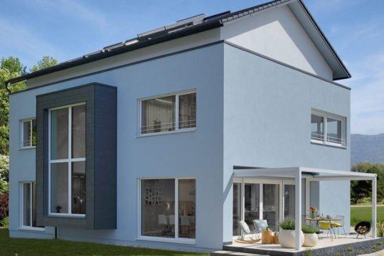 Musterhaus Fellbach - Ein großes weißes Gebäude - Haus