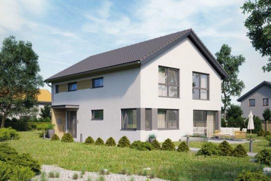 Variant 198 - Ein kleiner garten vor einem haus - Hanse Haus Musterhaus Fellbach