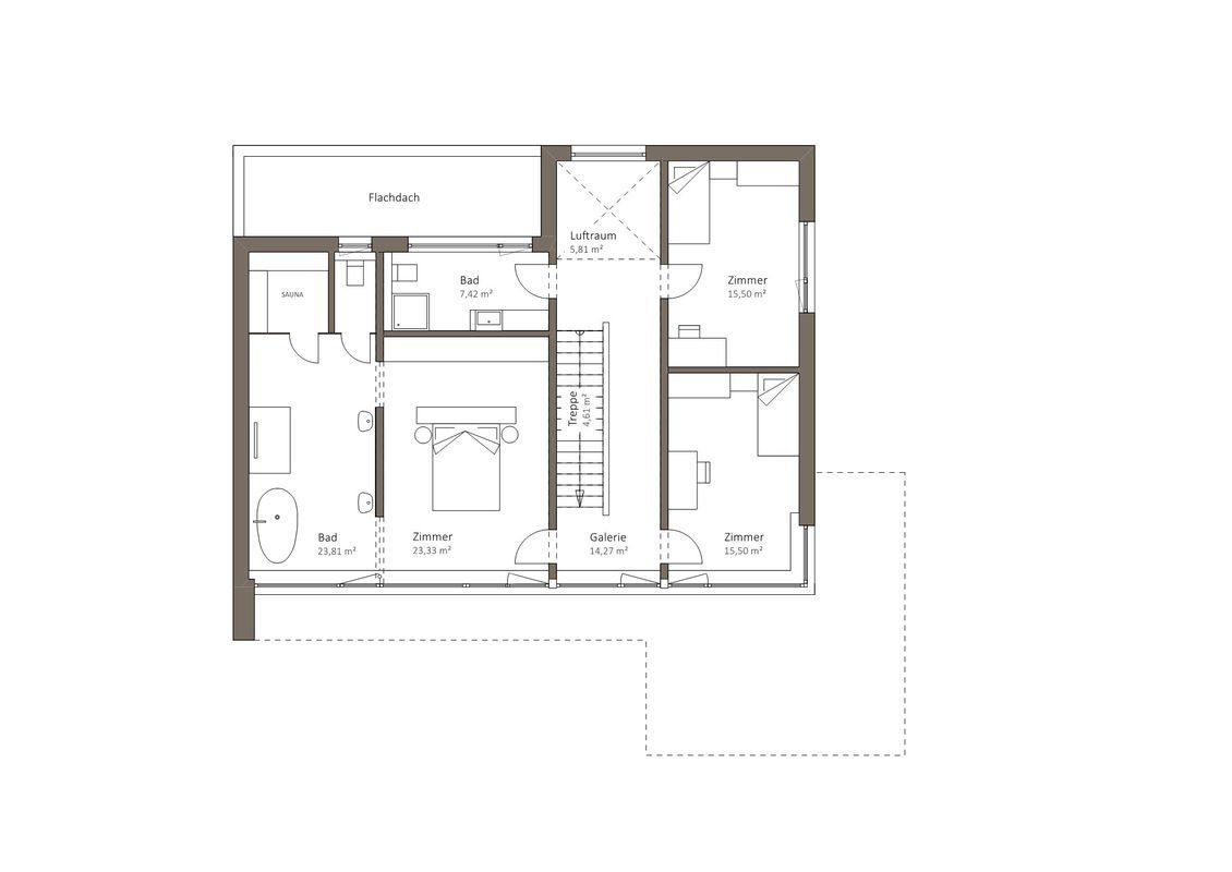 MusterHaus Bad Vilbel - Eine Nahaufnahme von einem Stück Papier - Gebäudeplan