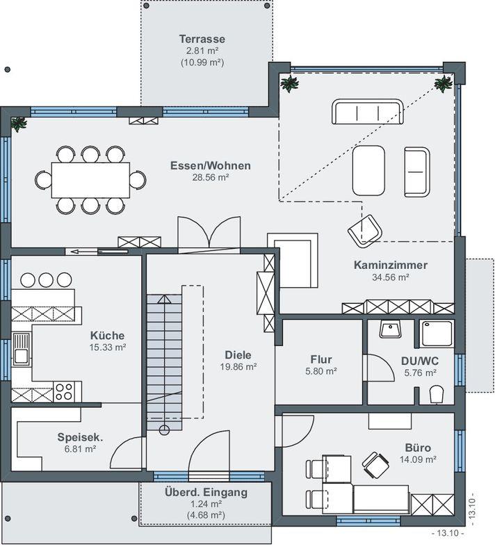 Villa mit Aussicht - Eine Nahaufnahme von einer Karte - Gebäudeplan