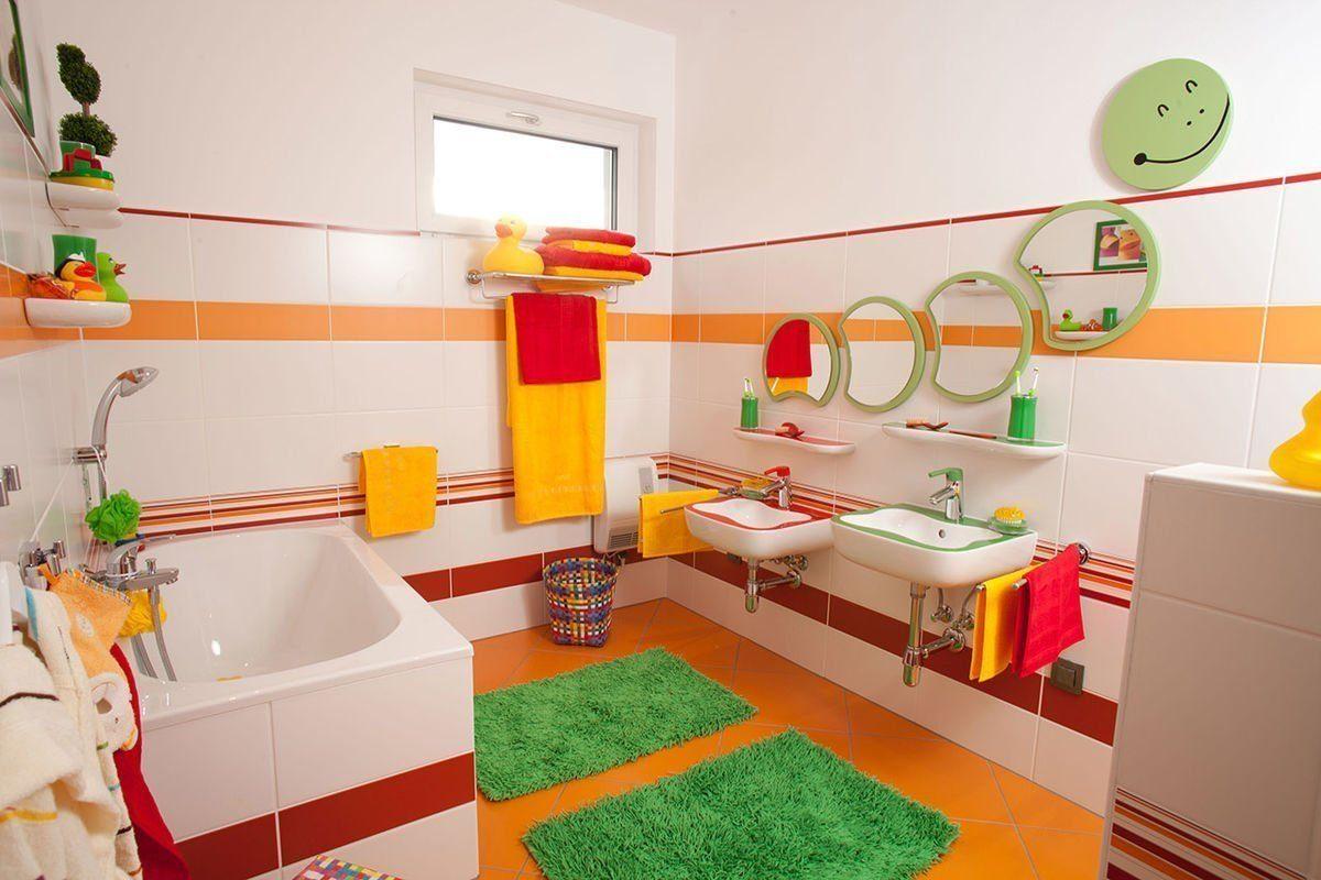 ELK Effizienzhaus 144 - Ein Schlafzimmer mit einem Bett und einem Spiegel - Design