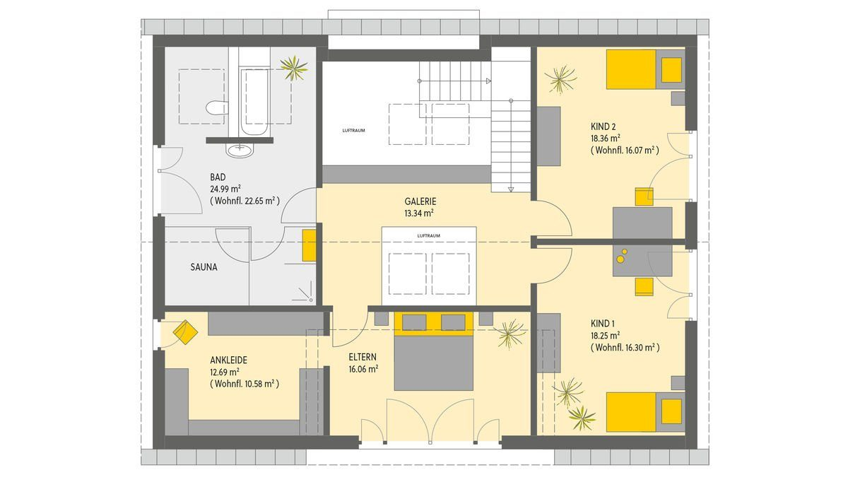 Haus Bad Vilbel - Eine Nahaufnahme von einer Karte - Gebäudeplan