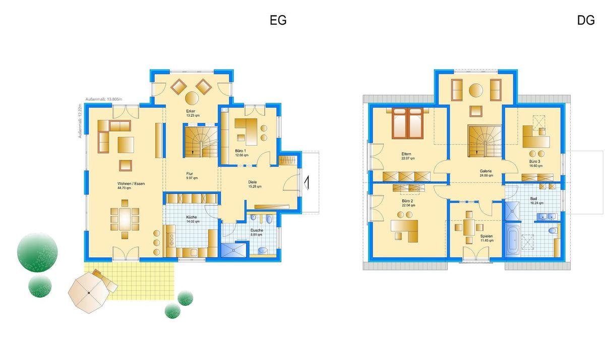 Da Capo Sonderplanung - Ein Screenshot eines Videospiels - Gebäudeplan