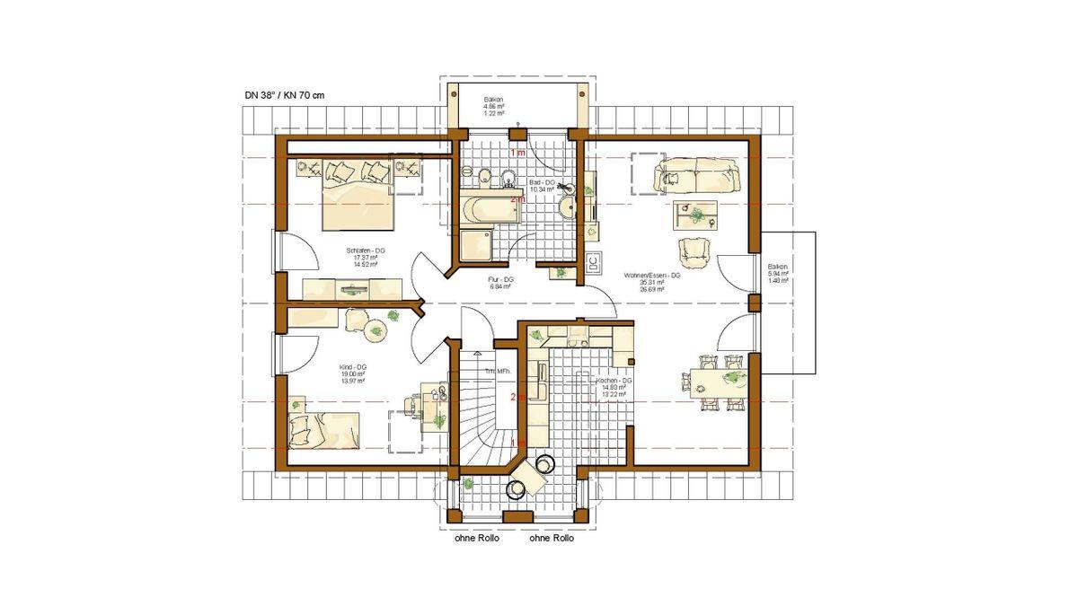 Musterhaus Valencia - Eine Nahaufnahme von einer Karte - Haus