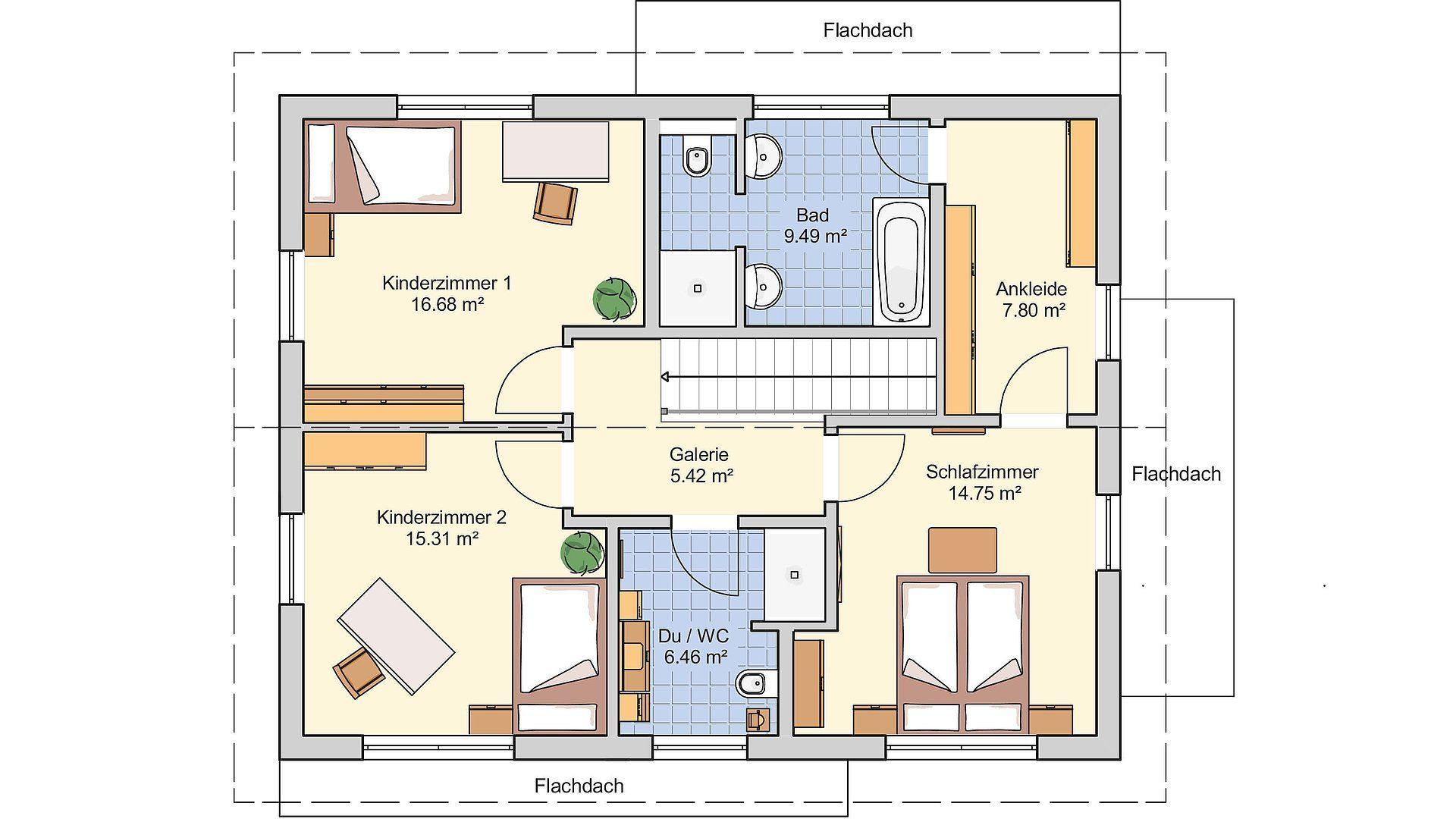 Musterhaus Mannheim - Eine Nahaufnahme von einer Karte - Gebäudeplan