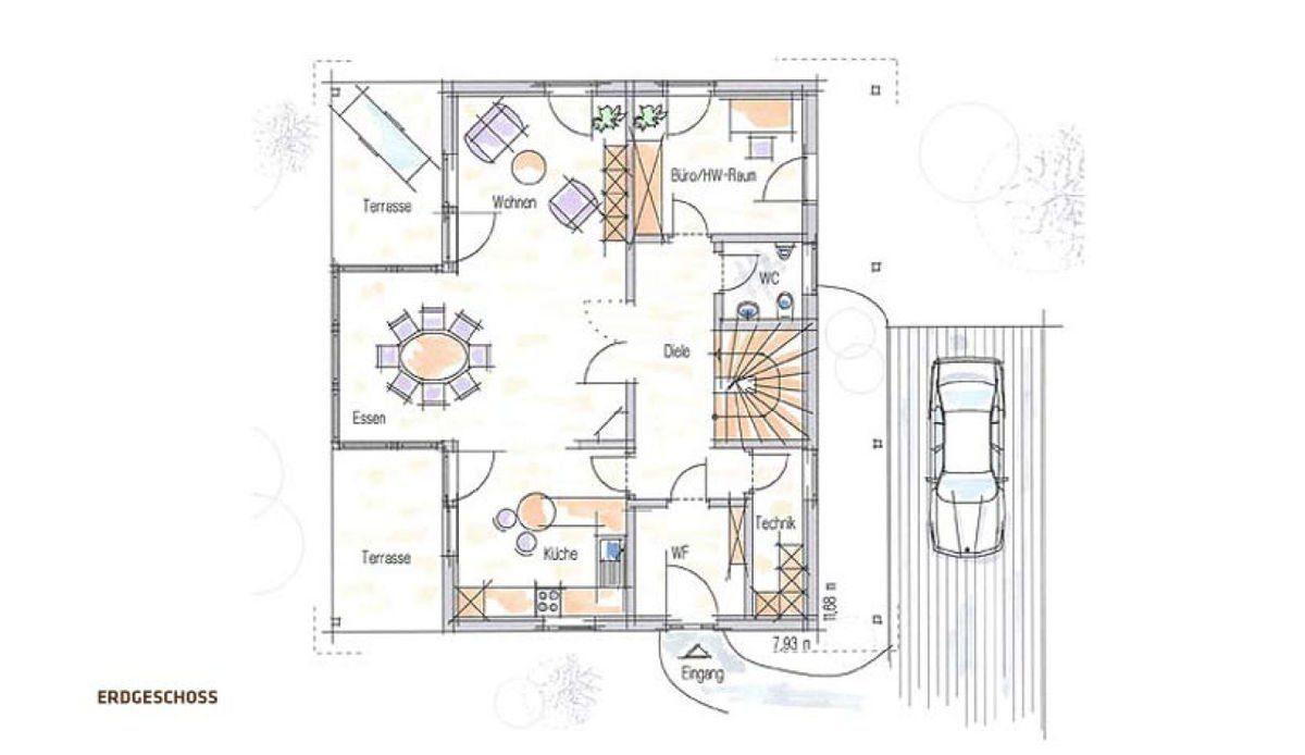 Musterhaus Fellbach - Eine Nahaufnahme von einer Karte - Musterhaus