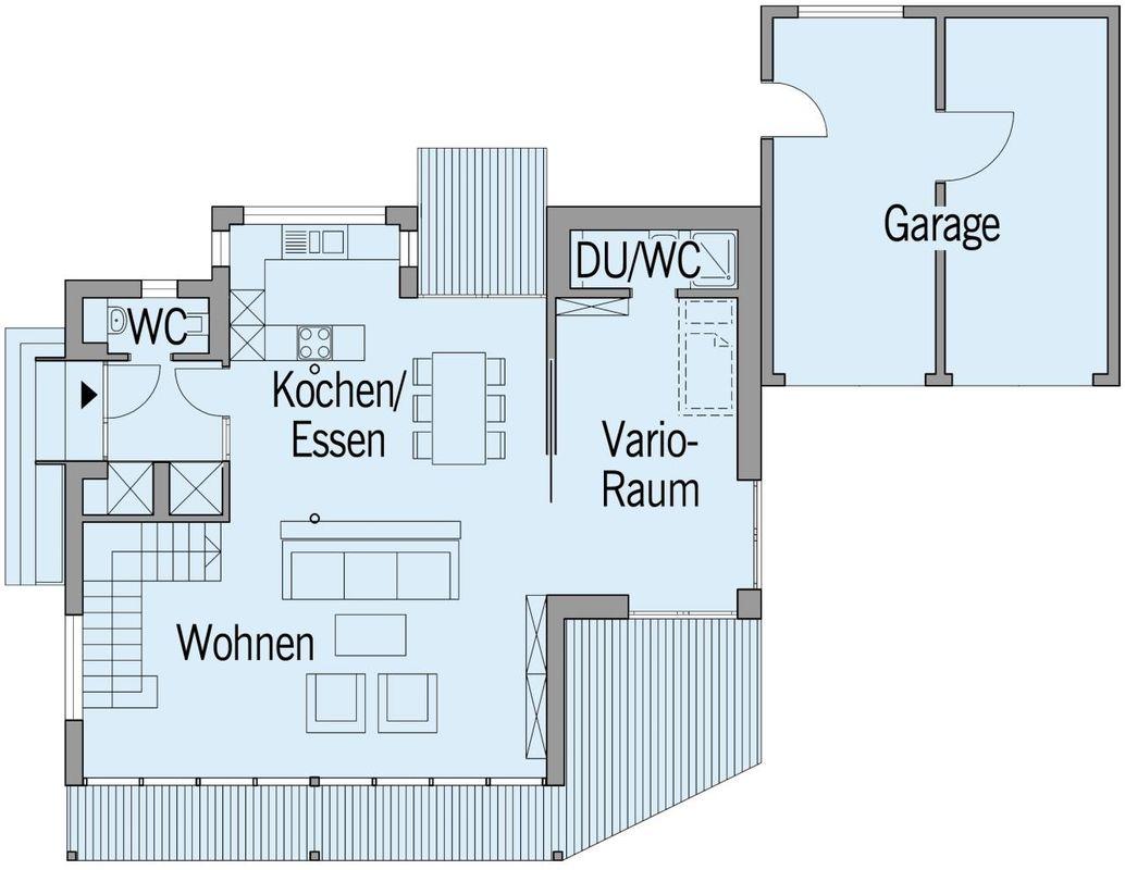 Musterhaus Vario - Eine Nahaufnahme von einem Logo - Bau-Fritz GmbH & Co. KG, seit 1896