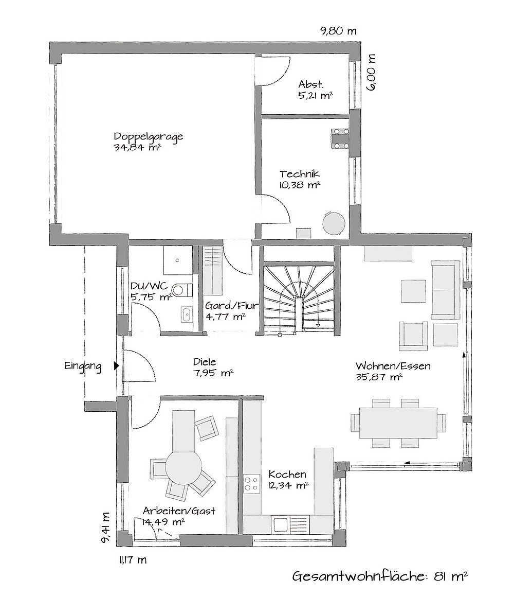 Musterhaus Schkeuditz - Eine Nahaufnahme von einer Karte - Haus