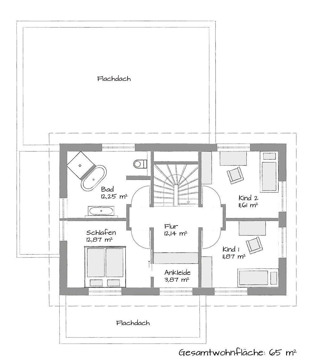 Musterhaus Schkeuditz - Eine Nahaufnahme von einer Karte - Gebäudeplan