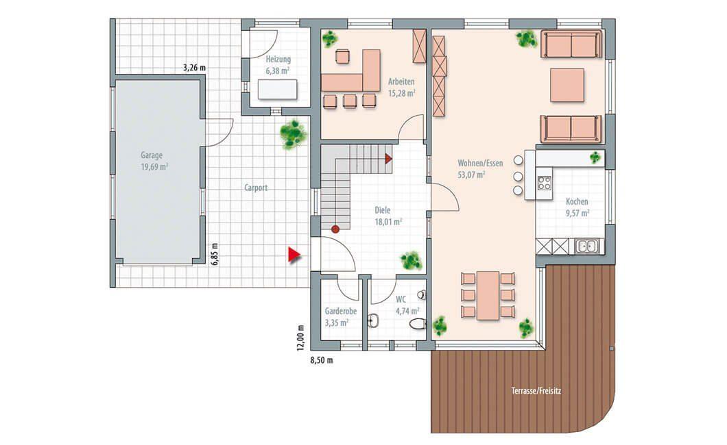 Edition Select 186 (Musterhaus Mannheim) - Eine Nahaufnahme von einer Karte - Gebäudeplan