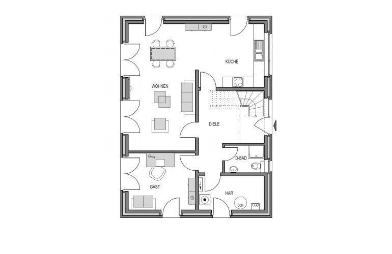 Musterhaus Lüneburg - Eine nahaufnahme von text auf einem weißen hintergrund - Heinz von Heiden - Musterhaus Lüneburg