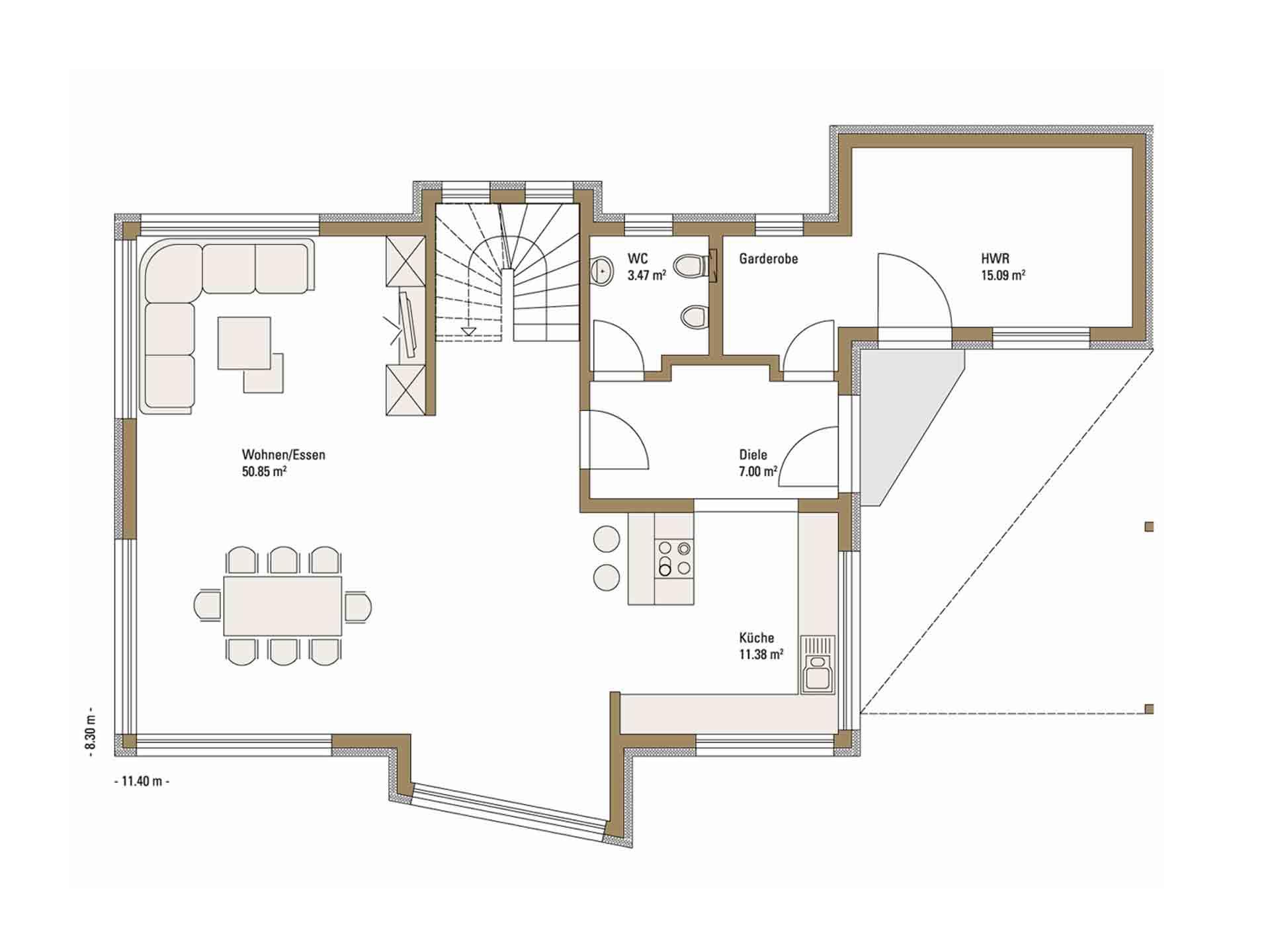 Musterhaus Erlangen - Eine Nahaufnahme von einer Karte - Fertighaus Weiss
