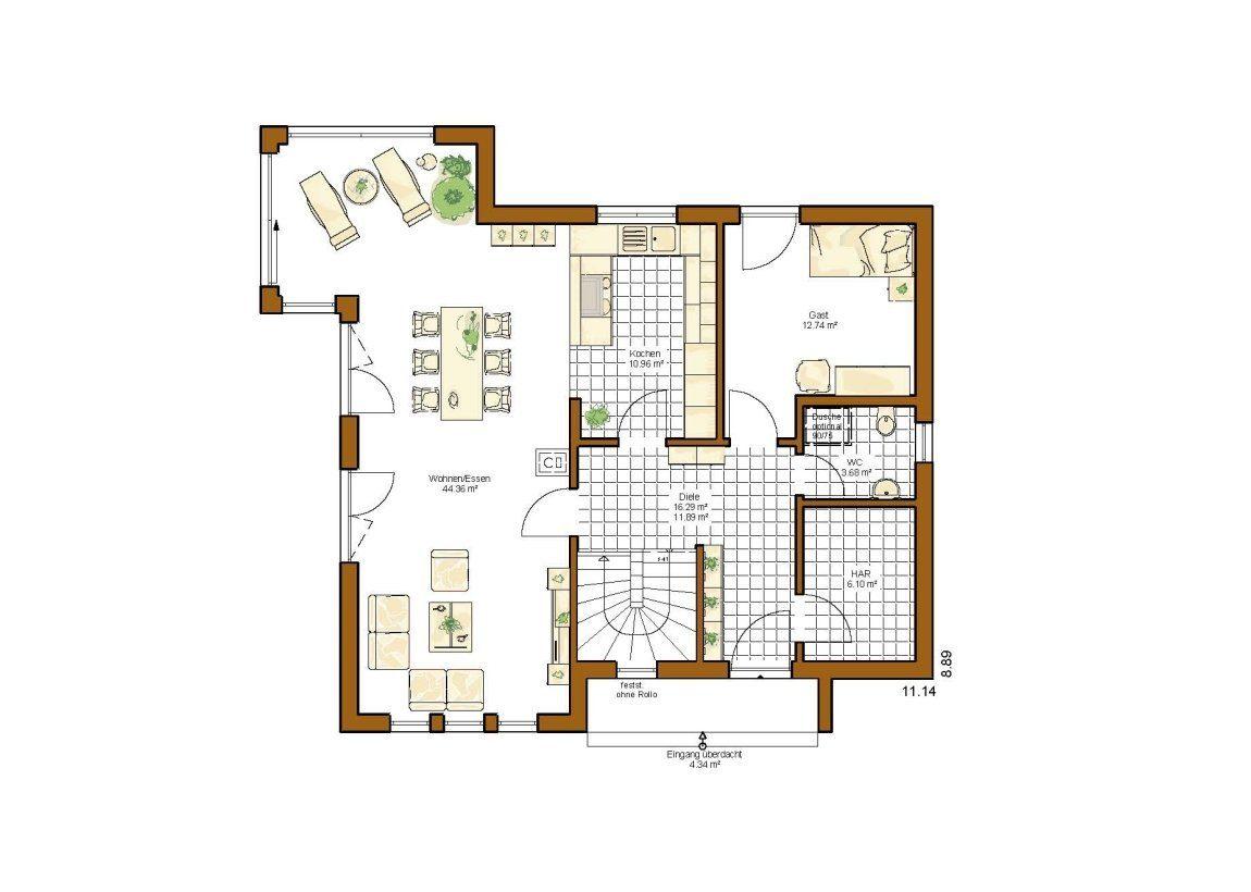Musterhaus Göteborg - Eine Nahaufnahme von einer Karte - Gebäudeplan