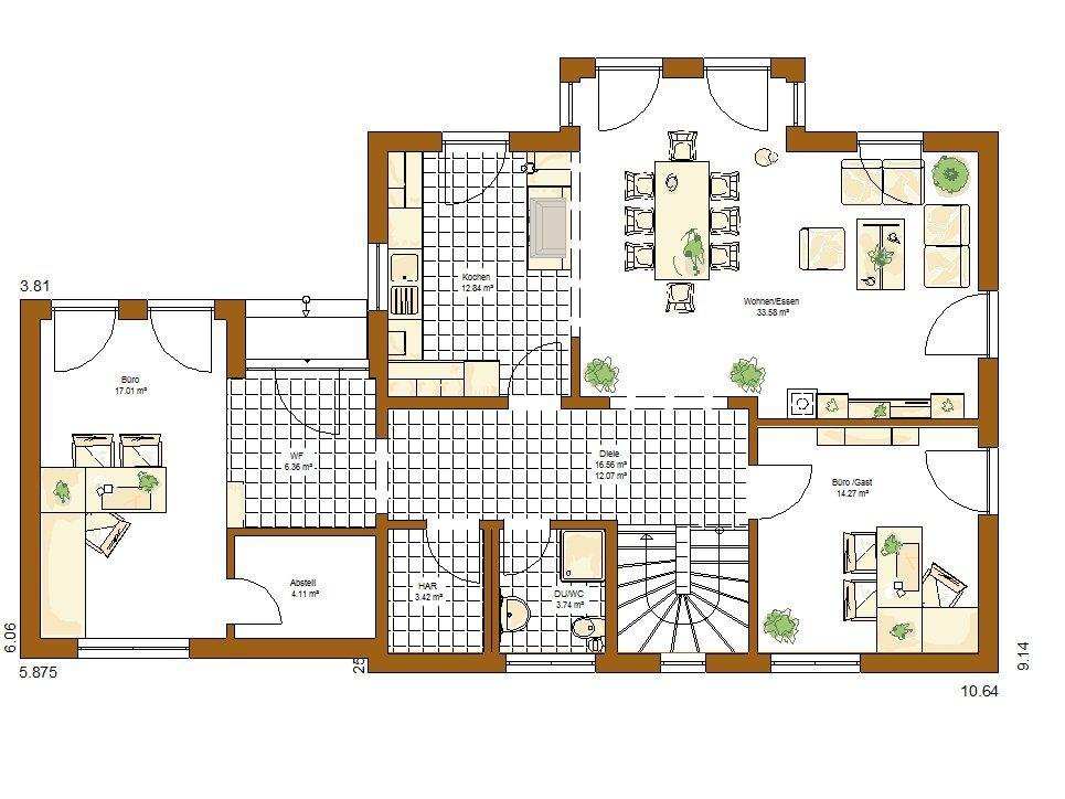 Musterhaus Orlando - Eine Nahaufnahme von einer Karte - Gebäudeplan