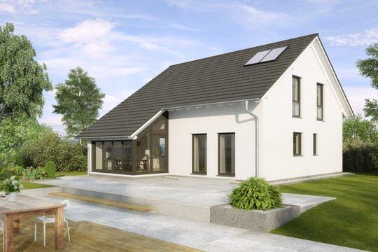 Buchenallee KfW-Effizienzhaus 40 - Ein großes Backsteingebäude mit Gras vor einem Haus - Haus