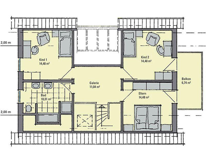 Musterhaus Evita - Eine Nahaufnahme von einem Logo - Gebäudeplan