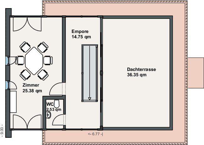 Ausstellungshaus Minergie - Eine Nahaufnahme von einem Logo - Gebäudeplan