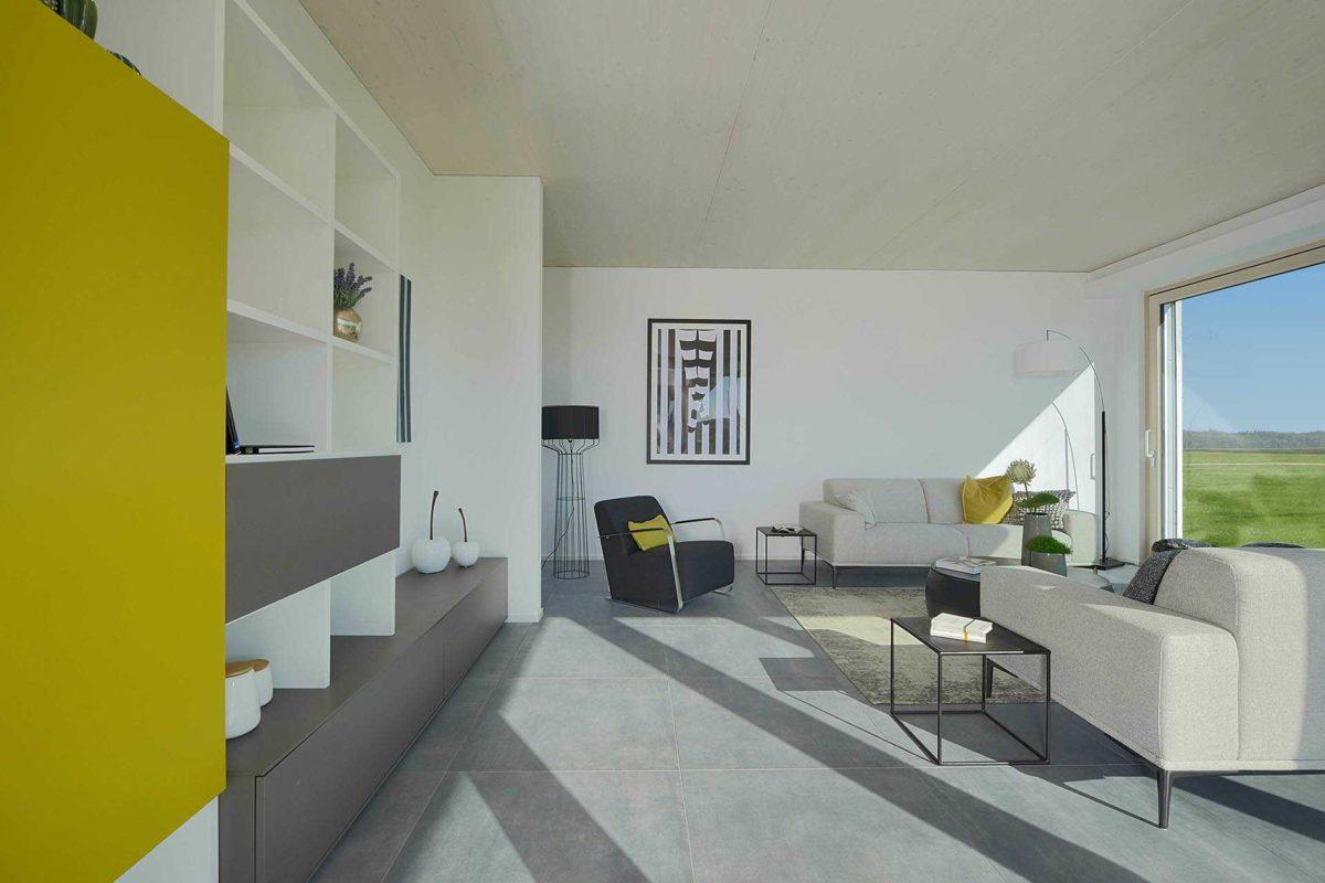 Kubos 1.2520 - Ein Raum mit weißen Wänden - InfoCenter Rousseau Park