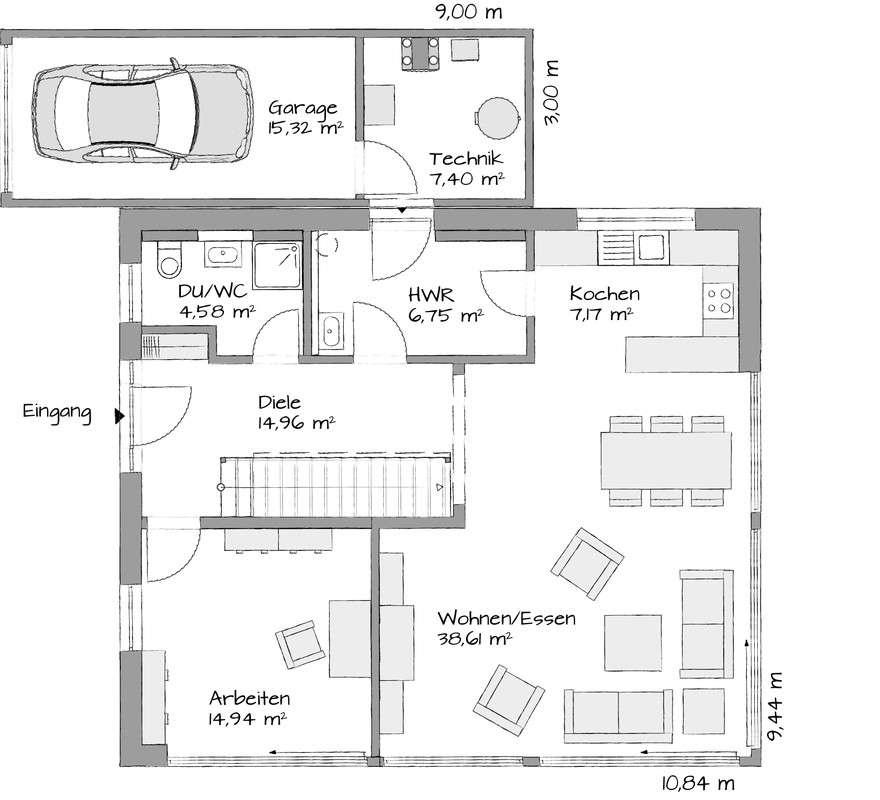 Musterhaus Köln - Eine Nahaufnahme von einer Karte - Haus
