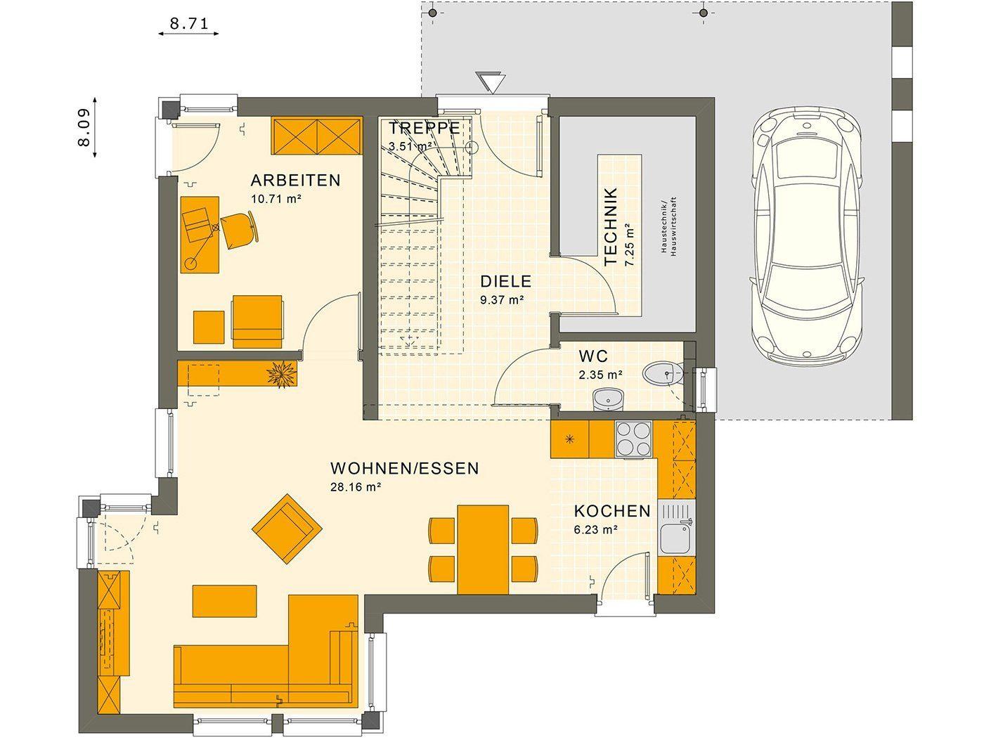 SUNSHINE 113 V7 - Eine Nahaufnahme von einer Karte - Gebäudeplan