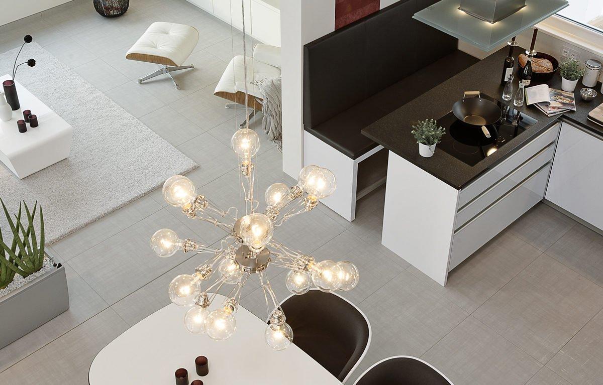 L³- Luxhaus Lifestyle Loft - Ein tisch mit waschbecken und spiegel - Esszimmer
