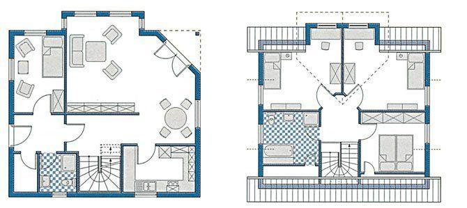 Musterhaus München - Eine Nahaufnahme von einer Karte - Gebäudeplan