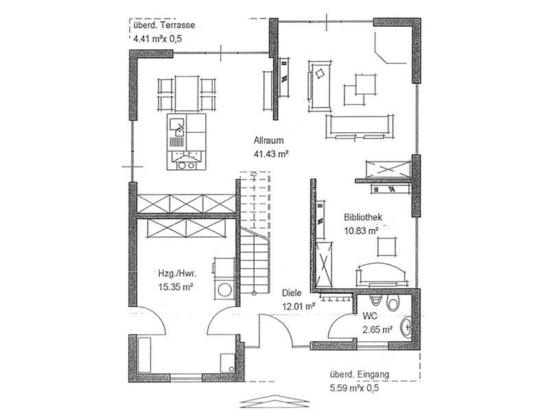 Bauhaus - Eine nahaufnahme von text auf einem weißen hintergrund - Gebäudeplan