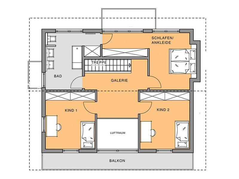 Das Genuss – Musterhaus Köln - Eine Nahaufnahme von einer Karte - Gebäudeplan